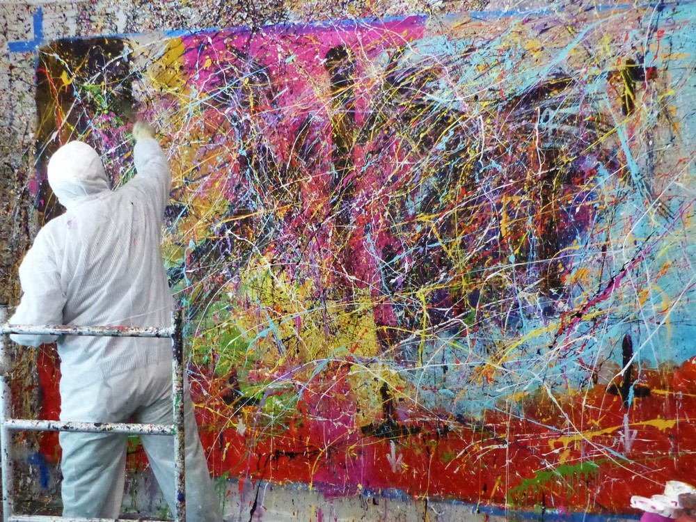 Jean-Jacques Marie, artiste action painting