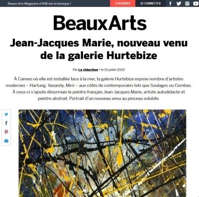 Beaux Arts magazine : Jean-Jacques Marie